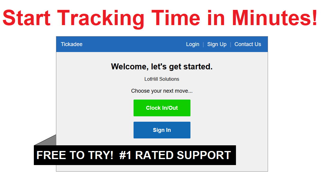 Tickadee Online/Web-based Time Clock