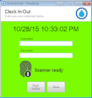 TimeDrop® Time Clock - Clock In/Out