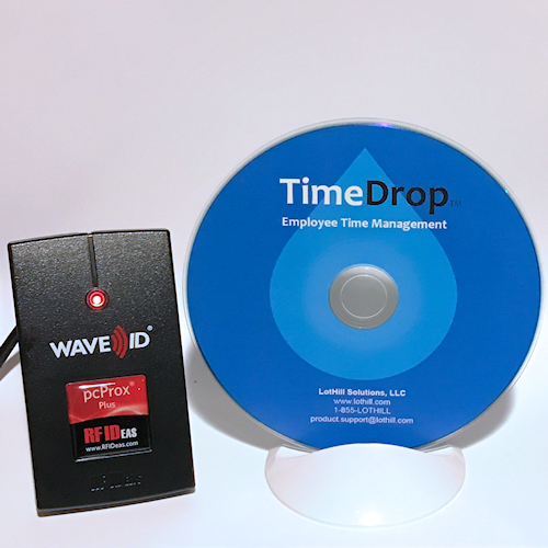 TimeDrop Time Clock & pcProx Contactless RFID Badge Reader - LotHill